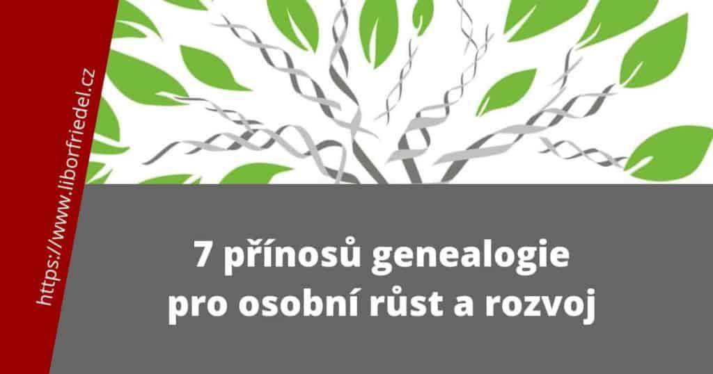 Titulek k článku o přínosech genealogie pro osobní růst a rozvoj, se ztvárněním stromu života