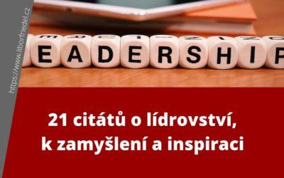 21 citátů o lídrovství