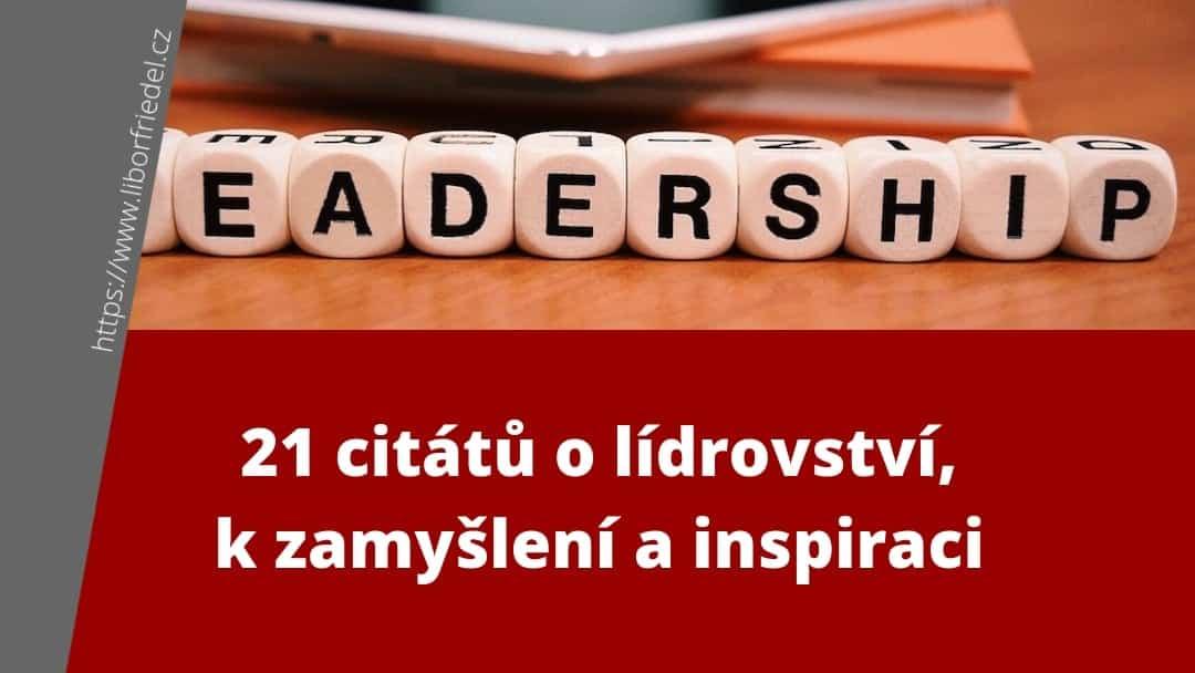 Titulek článku na blog - citáty o lídrovství